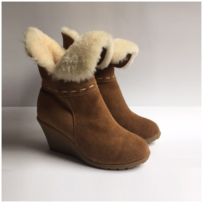 New Zealand Boots Wedge cognac