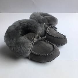 New Zealand Boots Baby booty grey outlet