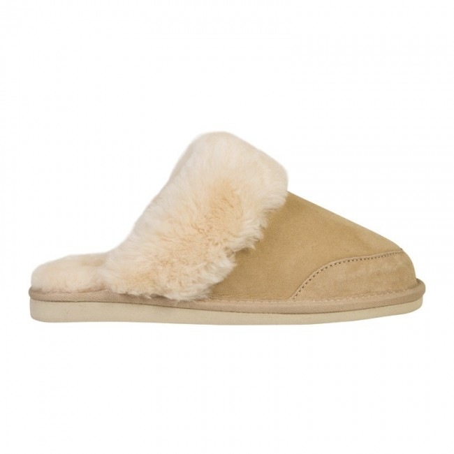 New Zealand Boots Open slipper sand